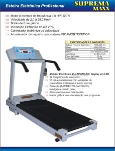 Esteira Profissional Maxx 3 229x300 Esteira Eletrônica Profissional Maxx 3.0