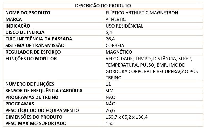 eliptico magnetron detalhes min Elíptico Athletic Magnetron 2000