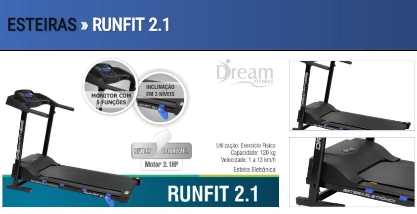 esteira RUNFIT 2.1 min Esteira Runfit 2.1